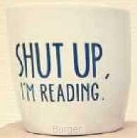 BLOSSOM MUGS. 6x SHUT UP, I'M READING