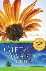 NIV gift en award bible flower
