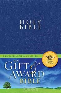 NIV bible gift en award blue