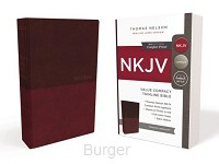 NKJV compact thinline bible Burg lthfl.
