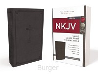 NKJV lp thinline bible Charcoal leathers