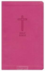 KJV thinline Bible Pink Leathersoft
