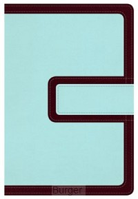 NKJV LP compact ref bible brown/blue mag