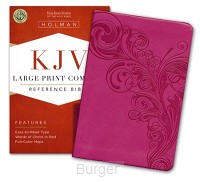 KJV LP compact ref bible pink leatherfle