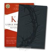 KJV LP compact ref bible charcoal leathe
