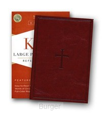 KJV LP compact ref bible brown leatherfl