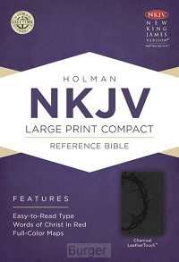 NKJV lp comp ref bible charcoal leather