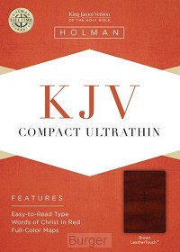 KJV compact bible ultra brown leather