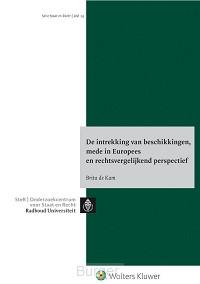 Intrekking van beschikkingen, mede in Europees en rechtsvergelijkend perspectief