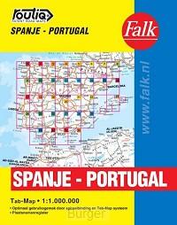 FALK AUTOKAART SPANJE PORTUGAL ROUTIQ 2018