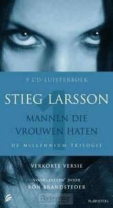 Mannen die vrouwen haten Luisterboek 8 CD's verkorte versie De millennium trilogie 1