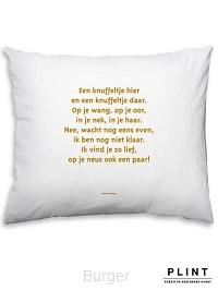 Poezie om te kussen van Plint  Kussensloop met gedicht Knuffeltje van Nannie Kuiper