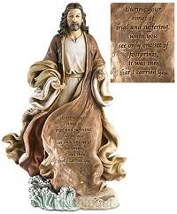 Sculpture Christ w/footprints 30cm