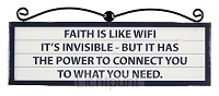 Signs plaque faith is like wifi