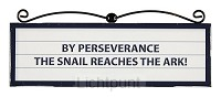 Signs plaque perseverance
