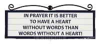 Signs plaque heart en words