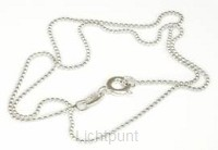 925 sterling silver ball chain 1mm 50cm