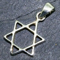 Silver pendant star of David 19mm
