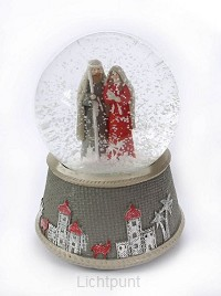 Schudbol kerst gekleurd