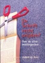 Schrift recht snijden