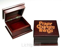 Sieradenkistje 9.5x9.5x5.5cm prayer chan