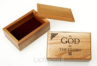 Sieradenkistje 9.7x6.3x4cm to God be the