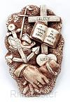 Wandbord geloof hoop en liefde