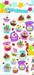 Fun stickers cup cakes