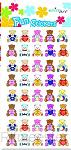 Fun stickers little teddies