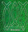 Sticker vis 2x8.5cm en 1x7.5cm groenglit