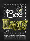 Verse card bee happy set6
