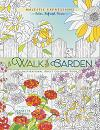 Coloring book walk in the garden