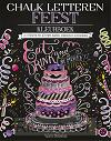 Chalk letteren feest kleurboek