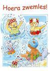Ansichtkaart 10,5x15 bobbi hoera zwemles