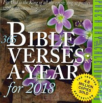 365 BIBLE VERSES-A-YEAR 2018 CALENDAR