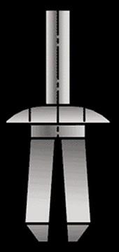 Kunststof spreidnagel universeel 8mm