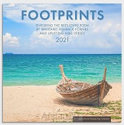 2021 Wall Calendar Footprints