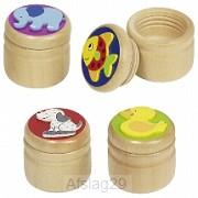 Tandendoosjes, hout, set van 4