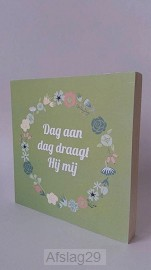 14x14 kransbordje 'Dag aan dag draagt Hi