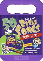 50 Bible Songs for Kids Activity Kit (CD