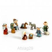 Kerststalfiguren set van 10