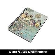 4 Uilen - A5 Notitieboek
