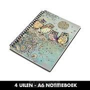 4 Uilen - A6 Notitieboek