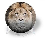 Interieurcirkel met standaard leeuw
