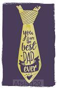 Wenskaart Best dad ever