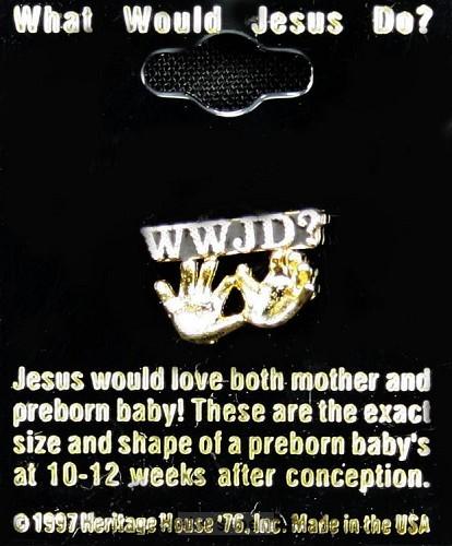 Reverpin goud el.handjes ongeb.k.W.W.J.D