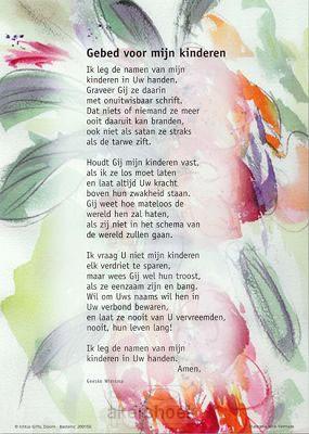 Poster a3 gebed voor mijn kinderen