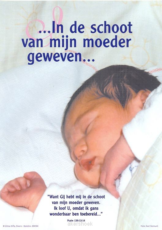 Poster a4 baby ps 139:13-14
