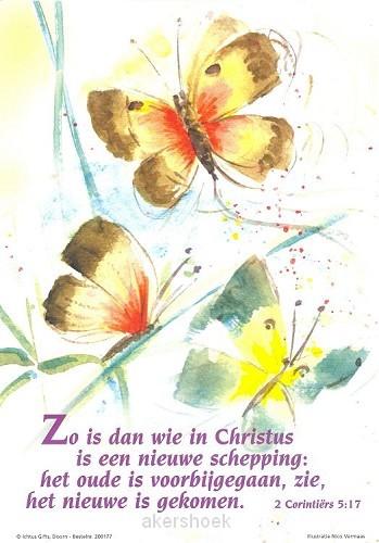 Poster a4 2 cor 5:17 zo is dan wie...