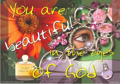 Poster a4 you are beautiful in the eyes